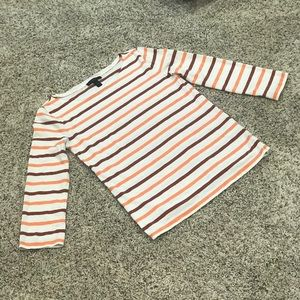 J. CREW striped boatneck top.